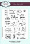Creative Expressions - Santa's Sentiments A5 Clear Stamp Set - CEC772